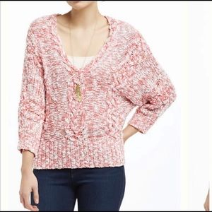 Anthropologie FAFC chunky knit geranium pullover